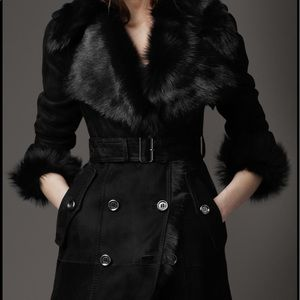 Burberry shearling trench